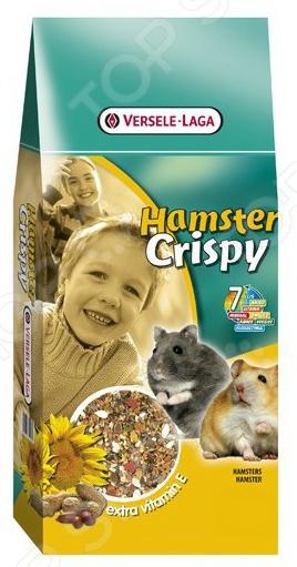 Корм для хомяков Versele-Laga Crispy Muesli Hamster Extra Vitamin EКорм<br>Корм Versele-Laga Crispy Muesli Hamster Extra Vitamin E предназначен специально для хомяков. Ваш питомец будет в восторге от своего нового блюда. Семена, зерна и овощи все эти компоненты не только разнообразят рацион пушистого зверька, но и обогатят его полезными витаминами, питательными веществами, микро- и макроэлементами. Высокое содержание клетчатки поможет правильному пищеварению. Сбалансированное лакомство легко усваивается, а также способствует равномерному стачиванию зубов домашнего любимца. Данный корм можно давать как основной, ведь он содержит все необходимое, чтобы грызун был сытым и здоровым. Основные преимущества корма Versele-Laga:  Уход за ротовой полостью и зубами грызуна;  Бережно высушенные овощи обеспечивают прекрасный вкус;  Низкая калорийность не позволит зверьку набирать лишний вес;  Целый комплекс витаминов для поддержания здоровья грызуна  Высокое содержание витамина Е, оказывает антиоксидантное действие и позволяет повысить иммунитет.<br>