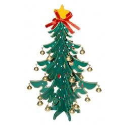 фото Декорация новогодняя Новогодняя сказка «Елочка с колокольчиками»