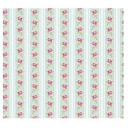 фото Отрез ткани Tilda Розы и полоски. Цвет: зеленый