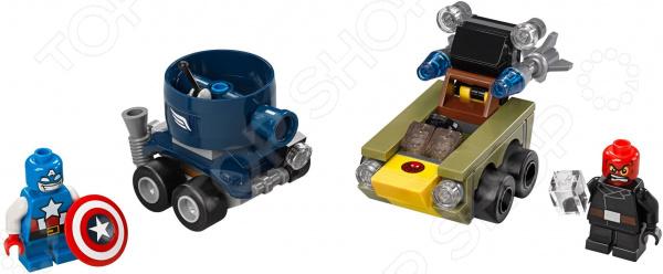 Конструктор LEGO «Капитан Америка против Красного Черепа»Конструкторы LEGO<br>Конструктор LEGO Капитан Америка против Красного Черепа оригинальный комплект, состоящий из деталей, с помощью которых можно собрать интересные игрушки танк Капитана Америку, который ввязывается в бой с злодеем Красным Черепом. Все детали выполнены из нетоксичных материалов, поэтому полностью безопасны. Детский конструктор является достаточно практичным учебным пособием, так как он развивает память, мышление, логику, фантазию, а также моторику рук. Сборка конструктора подарит ребенку массу удовольствия и приятное времяпрепровождение. Преимущества:  Множество оригинально выполненных элементов.  Увлекательный процесс сборки.  Качественный материал.<br>