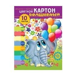 фото Набор картона цветного Бриз «Слоник»