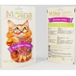Купить Лакомство для кошек Molina 70634 «Кусочки тунца»