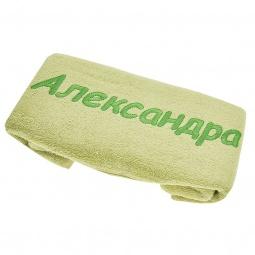 фото Полотенце подарочное с вышивкой TAC Александра. Цвет: зеленый