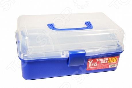 Ящик рыболовный Yamada Tough Box 330Сопутствующие товары для рыбалки<br>Ящик рыболовный Yamada Tough Box 330 полезное дополнение для снаряжения любого рыболова. Чемоданчик из ударопрочного пластика легко вместит в себя все необходимые аксессуары и инструменты. Прозрачная крышка позволит, не открывая емкость, рассмотреть его содержимое. Имеется широкая рукоятка, обеспечивающая удобный хват изделия. Крышка ящика надежно закрывается защелкивающимся механизмом, поэтому за сохранность его содержимого можете не беспокоиться.<br>