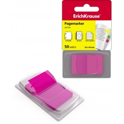 фото Набор стикеров-закладок Erich Krause пластиковых. Цвет: розовый
