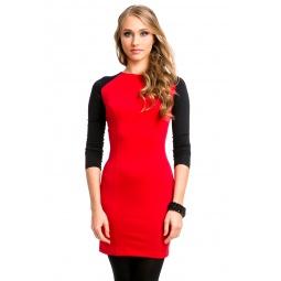фото Платье Mondigo 5050. Цвет: брусничный. Размер одежды: 48