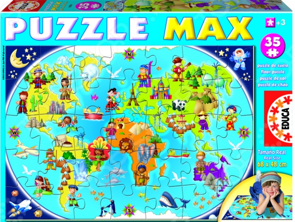 Пазл 35 элементов Educa «Карта мира»