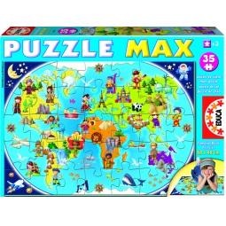 Купить Пазл 35 элементов Educa «Карта мира»