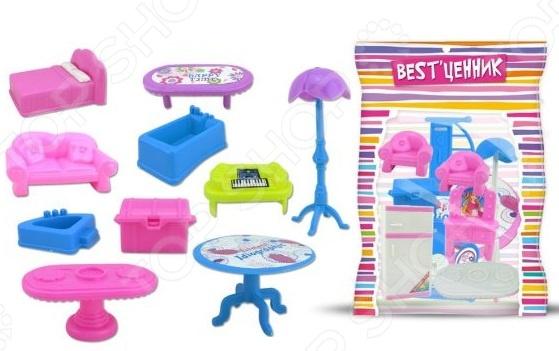 Набор мебели для куклы S+S TOYS 100799598. В ассортиментеКукольные домики. Мебель<br>Товар продается в ассортименте. Состав набора при комплектации заказа зависит от наличия товарного ассортимента на складе. Набор мебели для куклы S S TOYS 100799598 станет чудесным подарком для вашей любимой доченьки. Он подойдет для моделирования различных игровых сюжетов и будет способствовать развитию у ребенка воображения и когнитивного мышления. Кроме того, малышка сможет попробовать себя в роли дизайнера и самостоятельно спроектировать интерьер доя любимой куклы. Мебель рассчитана на кукол размером до 12 см.<br>
