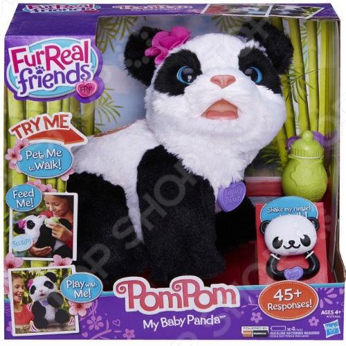 фото Игрушка интерактивная мягкая Hasbro Малыш Панда, Мягкие интерактивные игрушки