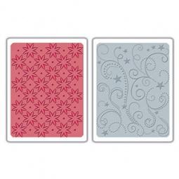Купить Форма для эмбоссирования Sizzix Textured Impressions Цветы, звезды и завитки