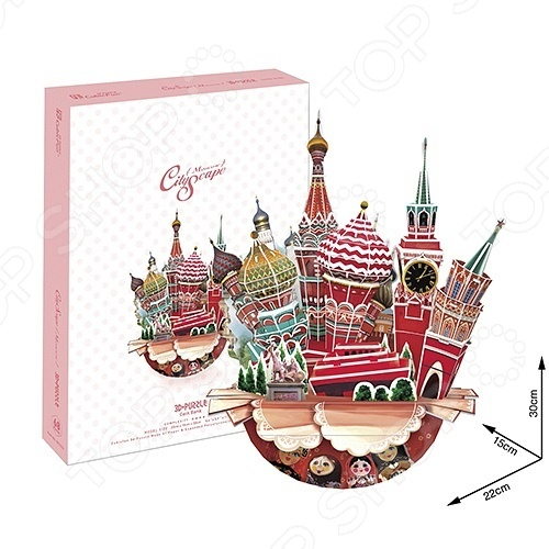 Пазл 3D CubicFun «Москва» пазлы cubicfun пазл башня белен