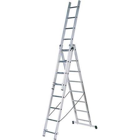 Купить Лестница трехсекционная со стабилизатором Зубр 38831