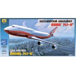 фото Сборная модель Звезда Пассажирский авиалайнер «Боинг 747-8»