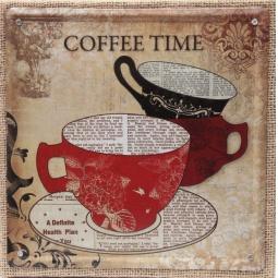 фото Картина на металле Феникс-Презент «Чашки»