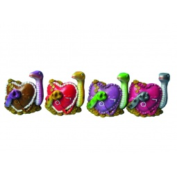 Купить Копилка Снегурочка «Змея с сумкой-сердцем»