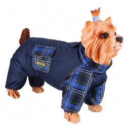 Купить Комбинезон-дождевик для собак DEZZIE «Пудель средний». Цвет: синий