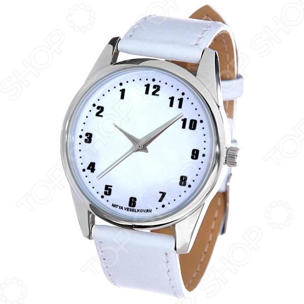 Часы наручные Mitya Veselkov «Обратный циферблат» MV.White