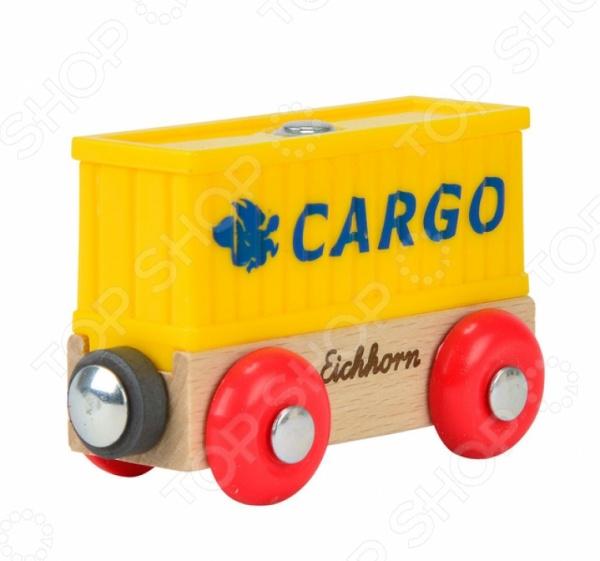 Вагончик игрушечный Eichhorn «Вагон контейнер»