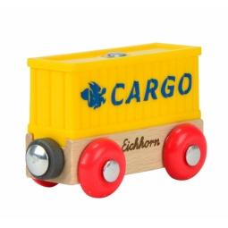 Купить Вагончик игрушечный Eichhorn «Вагон контейнер»