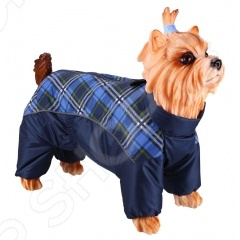 Комбинезон-дождевик для собак DEZZIE «Ши-тцу». Цвет: синий комбинезон дождевик для собак dezzie такса карликовая цвет синий