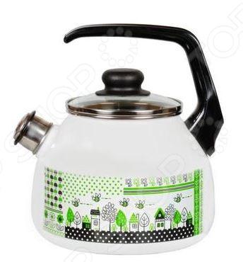 Чайник со свистком Vitross Green LifeЧайники со свистком и без свистка<br>Чайник со свистком Vitross Green Life это отличный чайник, который сделан из нержавеющей стали, объемом на 3 литра.Ручка оснащена специальным участком, за который удобно брать. Крышка стеклянная, выполнена в одном дизайне с чайником. Прибор подходит для индукционных плит.<br>