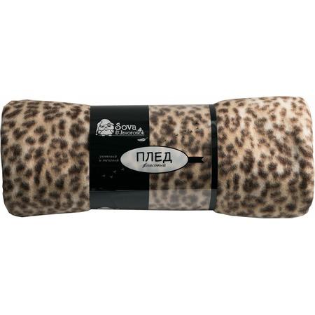 Купить Плед Сова и Жаворонок «Леопард»