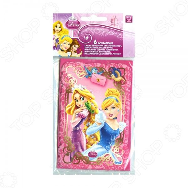 Приглашения в конвертах Procos 82650 «Принцессы и животные»