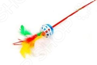 Игрушка-дразнилка для кошек ЗООНИК с перьями