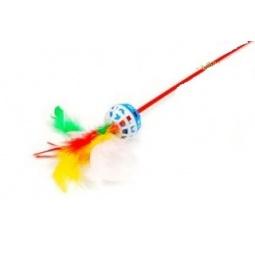 Купить Игрушка-дразнилка для кошек ЗООНИК с перьями. В ассортименте