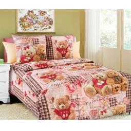 фото Детский комплект постельного белья Бамбино «Плюшевые мишки». Цвет: розовый