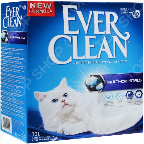 Наполнитель для кошачьего туалета Ever Clean Multi Crystals 25347Наполнители для туалета<br>Наполнитель для кошачьего туалета Ever Clean Multi Crystals 25347 наполнитель комкующего типа с микро-кристаллами. Улучшенная формула позволяет полностью устранить неприятные запахи и влагу, а также избежать образования пыли. Не содержит ароматизаторов. Гранулы наполнителя не прикрепляются к шерсти кошек и не доставляют им дискомфорта.<br>