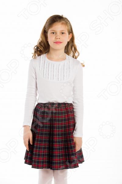 Блузка с длинным рукавом и рюшами