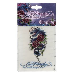 Купить Наклейка со стразами ED Hardy EH-00934 Dragon rose