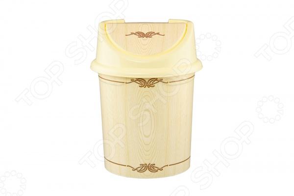 Контейнер для мусора Violet 0408/91 «Беленый дуб»