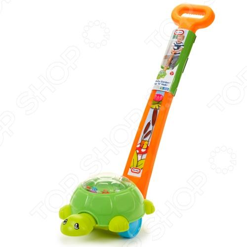 Каталка Little Tikes ЧерепашкаКаталки для малышей<br>Каталка Little Tikes Черепашка станет отличным подарком для вашего любимого чада и будет способствовать развитию у малыша сенсорного восприятия и координации движений. Игрушка выполнена в виде забавной зеленой черепашки, при движении она кивает головой, а лягушки внутри ее прозрачного панциря весело подпрыгивают. Каталка изготовлена из высококачественных материалов и предназначена для детей в возрасте от 9-ти месяцев.<br>