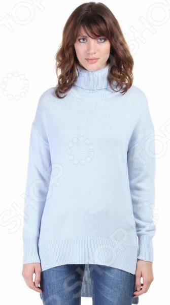 Джемпер Baon B166529. Цвет: голубойДжемперы. Кардиганы. Свитеры<br>Стильный джемпер на каждый день! Джемпер Baon B166529 это элегантная вещь из мягкой ткани, очень приятной телу. Замечательный дизайн сделает ее центральной деталью неповторимого образа, а грамотный покрой подойдет женщинам с любой фигурой. Джемпер станет изысканной частью торжественного образа, а также хорошо подойдет для повседневной работы и отдыха.  Универсальная длина прекрасно скроет недостатки фигуры, подчеркнув при этом достоинства. Если вы хотите выглядеть стильно в любое время года, то обязательно приобретите несколько разноцветных джемперов. Однотонный цвет всегда удачно гармонирует с другой одеждой. Попробуйте надеть джемпер с черным костюмом и яркий цвет станет центральной частью вашего образа. Если же вы предпочитаете стиль кэжуал , то такой джемпер всегда будет хорошо гармонировать с джинсами.  Изделие превосходно садится по фигуре, принимает исходную форму после использования, не линяет и не скатывается. Каждое изделие обрабатывается паром под давлением, за счет чего изделие приобретает свою форму и не теряет ее даже после стирки. Оцените преимущества бренда Baon  Подойдет как для повседневного ношения, так и для создания офисных образов.  Подчеркнет модность вашего гардероба.  Выполнен из качественных материалов.  Легок в уходе, не линяет, не садится при стирке.<br>