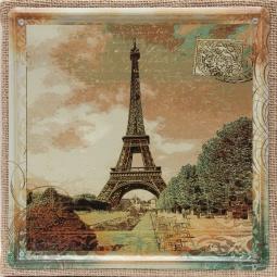 фото Картина на металле Феникс-Презент «Эйфелева башня»