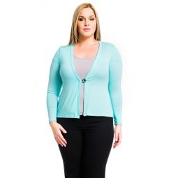 фото Жакет Mondigo XL 426. Цвет: мятный. Размер одежды: 52