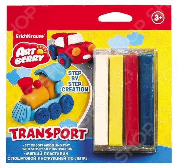 Набор пластилина мягкого Erich Krause Transport Step-by-step Creation