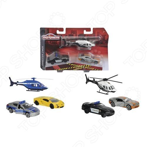Набор машинок игрушечных Majorette «Полицейская погоня». В ассортименте набор машинок игрушечных dickie 3745000