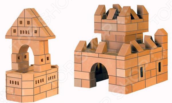 Конструктор из глины Brick Master «Крепость 2 в 1»Другие виды конструкторов<br>Конструктор из глины Brick Master Крепость 2 в 1 оригинальная альтернатива традиционным конструкторам с пластиковыми деталями. Почувствуйте себя настоящим строителем, создавая строение из миниатюрных кирпичиков. Все строительные блоки выполнены из обожженной глины, они гладкие и приятные на ощупь. Набор включает специальную строительную смесь из очищенного речного песка и крахмала, используемую для скрепления кирпичиков. После высыхания состав затвердевает, и готовое строение можно поставить на полочку. Однако при желании достаточно поместить конструкцию на 3-4 часа в воду, и смесь растворится. В результате кирпичики снова будут готовы для игры. Конструктор подойдет для детей от 3 лет. Главное, чтобы ребенок начинал игру под присмотром взрослых. Все материалы экологически чистые и безопасные для здоровья. Комплект включает керамические детали, смесь и мастерок.<br>