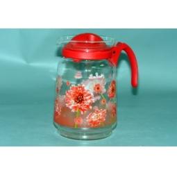 Купить Кувшин с крышкой Коралл «Цветы красные»
