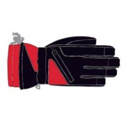 Купить Перчатки детские горнолыжные GLANCE Fighter Junior (2011-12). Цвет: черный, красный