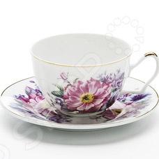 Чайная пара Loraine LR-24585Чайные и кофейные пары<br>Чайная пара Loraine LR-24585 станет украшением вашего стола. Красивое оформление стола как праздничного, так и повседневного это целое искусство. Правильно подобранная посуда это залог успеха в этом деле. Такая оригинальная чайная пара придется по вкусу даже самым требовательным хозяйкам и придаст особый шарм и очарование сервируемому столу. Превратите ваше традиционное чаепитие в настоящее удовольствие! В набор входят чашка и блюдце.<br>