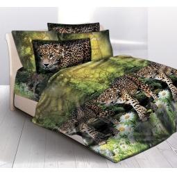 фото Комплект постельного белья Delisa 277166 «Леопард»