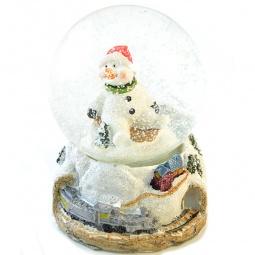 "фото Декоративный шар Новогодняя сказка ""Снеговик"" с LED-подсветкой"