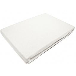 фото Простыня на резинке трикотажная ЭГО. Цвет: белый. Размер простыни: 160х200 см