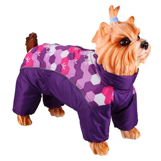 фото Комбинезон-дождевик для собак DEZZIE «Мальтийская болонка». Цвет: фиолетовый. Материал подкладки: синтепон