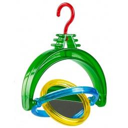 Купить Игрушка для птиц подвесная Beeztees 010495 «Вертушка с зеркалом»